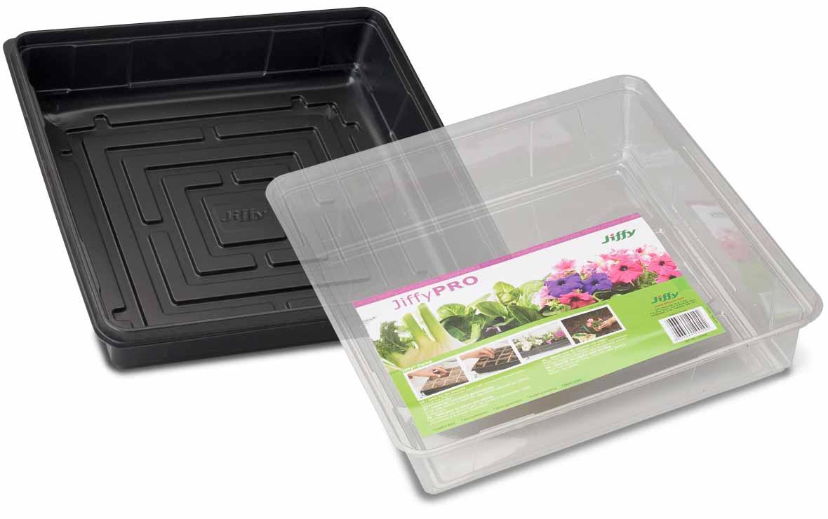 Pot Trays Gardening Germination and planting trays jiffy products jiffy saat und pflanzschalen mit passenden hauben workwithnaturefo