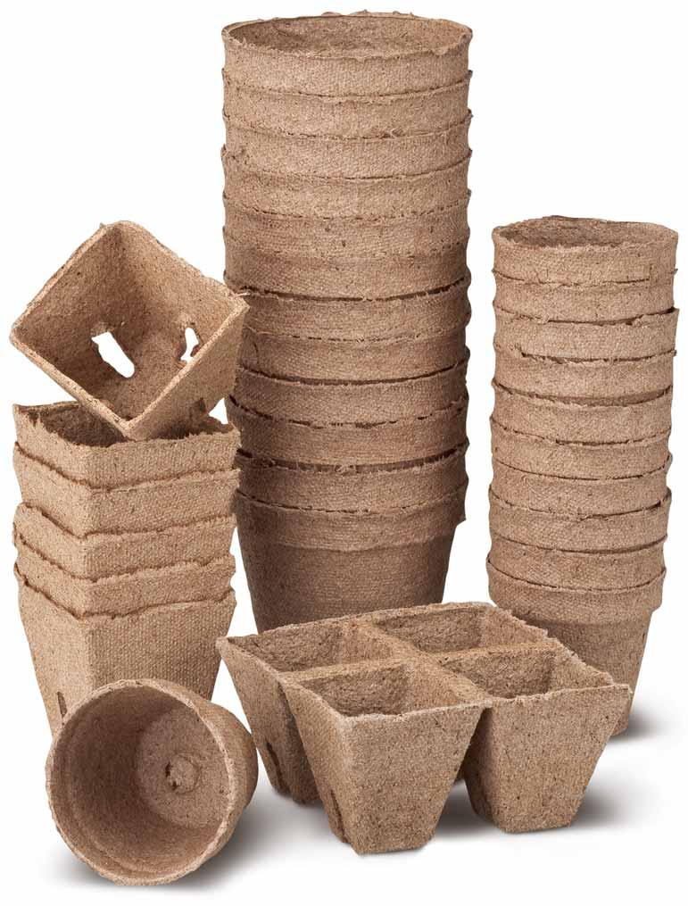 Mr Fothergills Jiffy Easy 50 Jiffy Pots Peat Strips 45mm Plant Seedling Pots